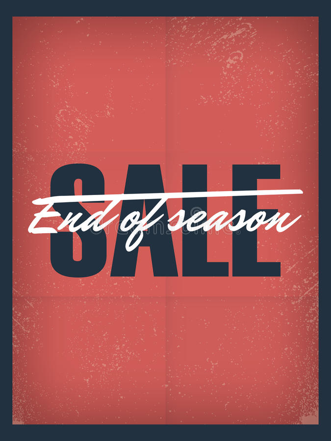 End Of Season Sale Poster Template Discounts And Stock Vector - for sale poster template