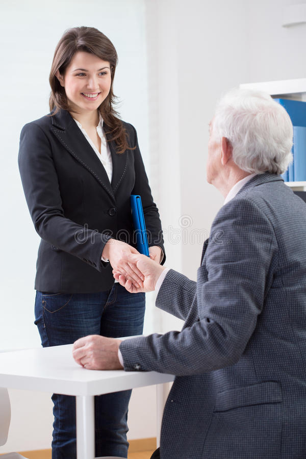 The End Of Successful Job Interview Stock Photo - Image of interview