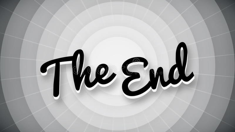 The End Typography Old Movie Animation Title Screen Stock Video - animation title