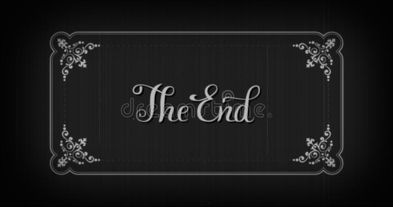 The End Typography Old Movie Animation Title Screen Stock - animation title
