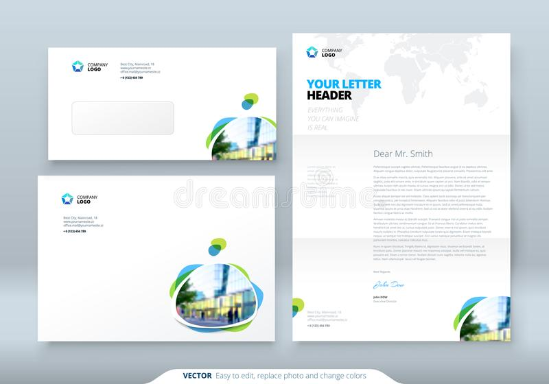 Envelope DL, C5, Letterhead Corporate Business Template For