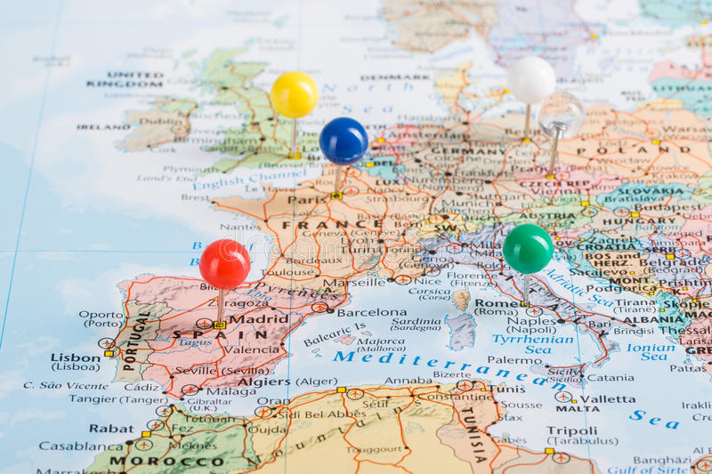 Europe Map pins travel stock photo Image of european - 73160296 - pins on a map