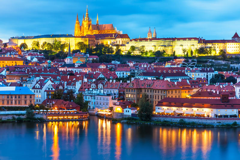 Beautiful Fall Scenery Wallpaper Evening Scenery Of Prague Czech Republic Stock Image