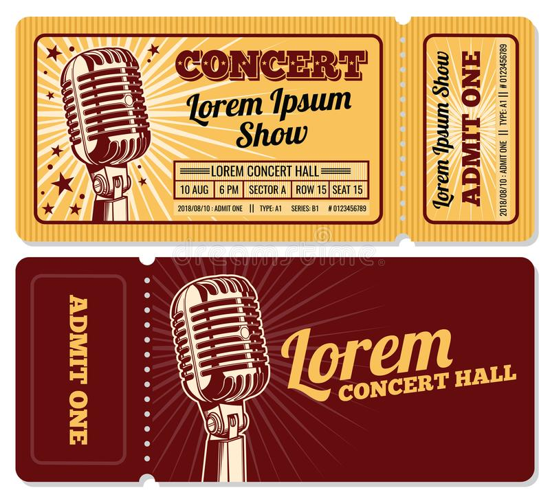 Event Or Concert Ticket Admission Entry Vector Template Stock Vector - entry ticket template