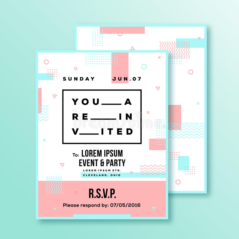 Event, Party, Wedding Invitation Card Or Poster Template Stock - invitation card event