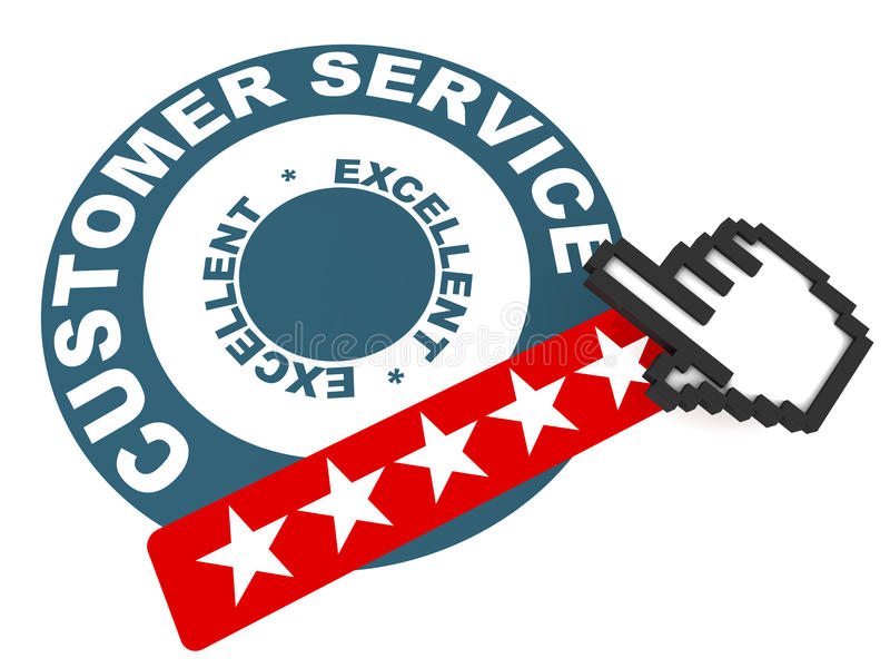 Excellent customer service stock illustration Illustration of