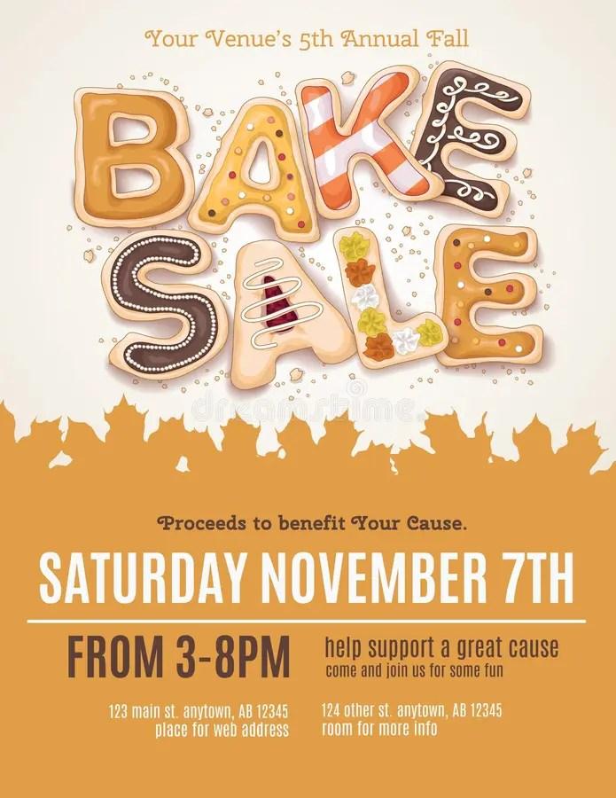 Fall Bake Sale Flyer stock vector Illustration of brochure - 61035694