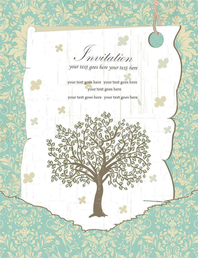 Family Reunion Invitation Card Stock Vector - Illustration of tree