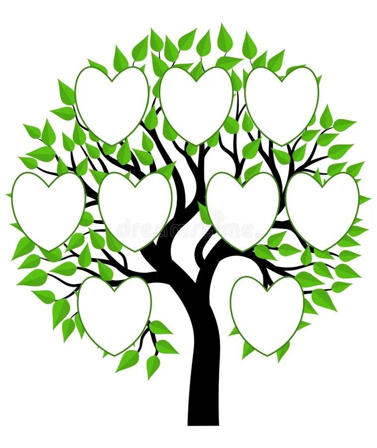 Family Tree Concept Illustration Vector Stock Illustration