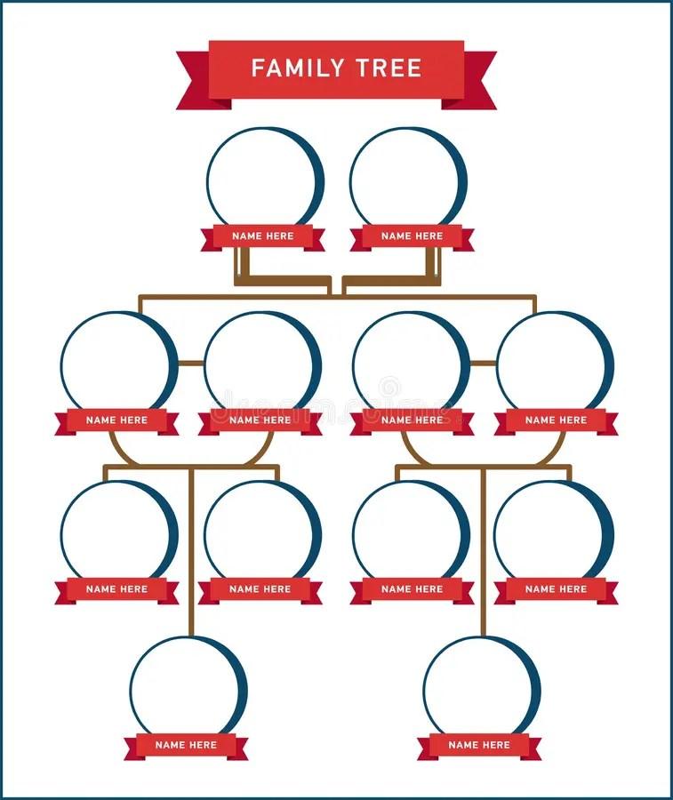 Family Tree Generation, Empty Icons Stock Vector - Illustration of