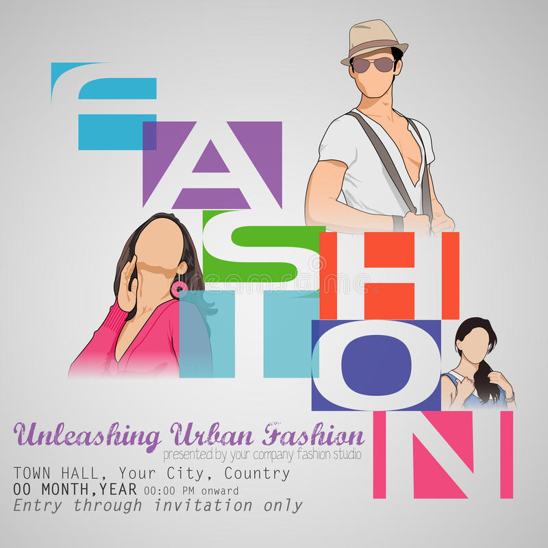 Fashion Show stock vector Illustration of glamour, model - 35047555