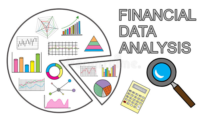 Financial Data Analysis Concept On White Background Stock