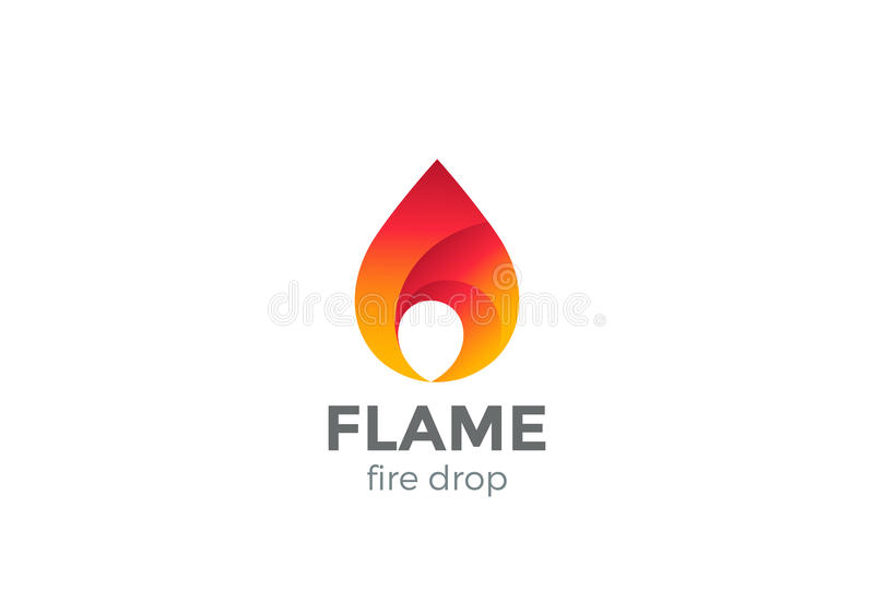 Fire Flame Logo Design Vector Droplet Red Drop Stock Vector - flame logo
