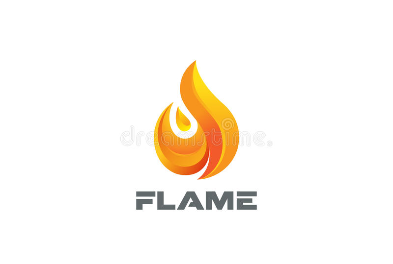 Fire Flame Logo Design Vector Template Stock Vector - Illustration - flame logo