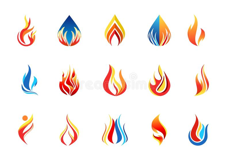 Fire Flame Logo, Modern Flames Collection Logotype Symbol Icon - flame logo