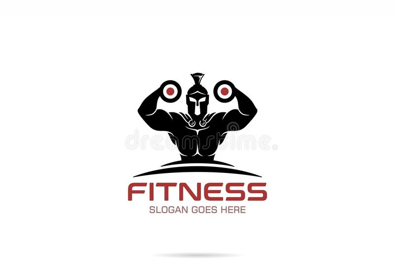 Fitness Logo Design stock illustration Illustration of gladiator