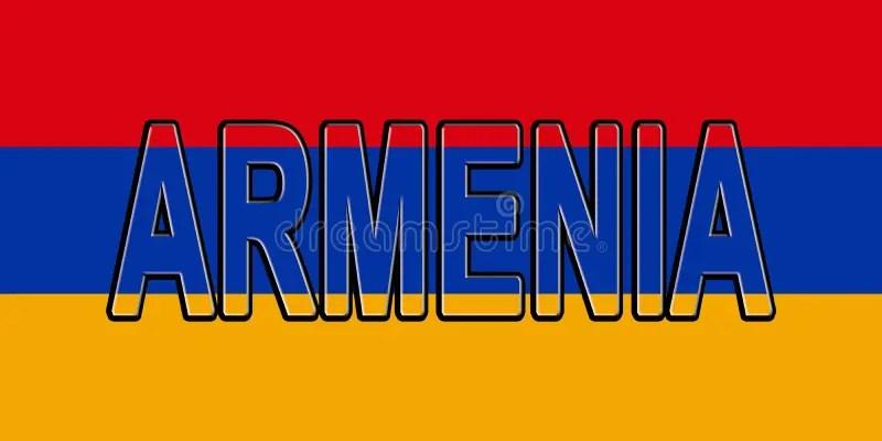Flag of Armenia Word stock illustration Illustration of asia - 90824314 - word flag