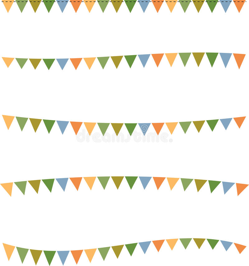 Flag Banner Template Background Border Stock Illustration