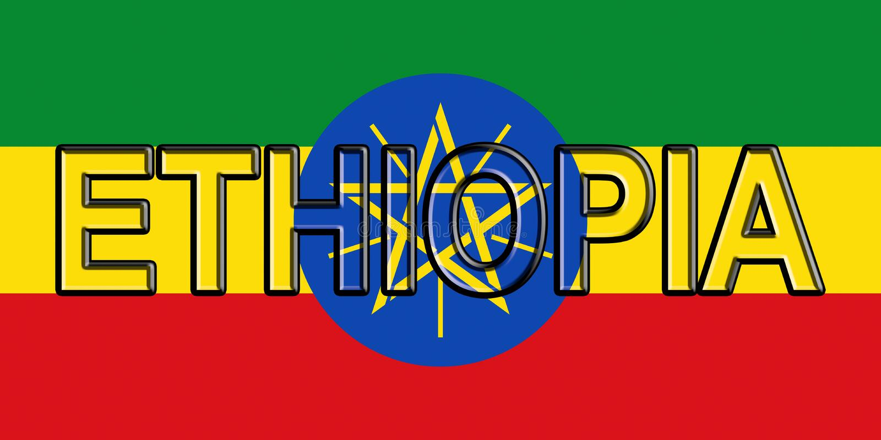 Flag of Ethiopia Word stock illustration Illustration of heritage - word flag