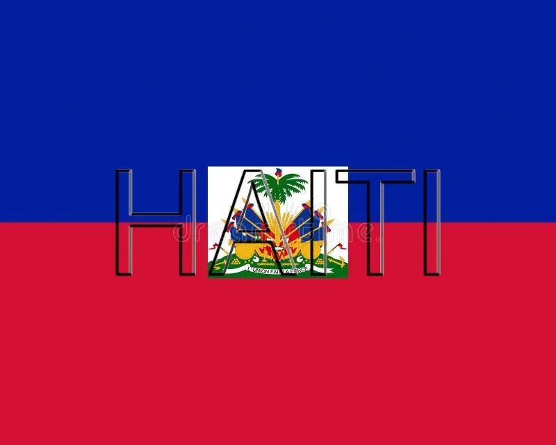Flag of Haiti Word stock illustration Illustration of heritage - word flag