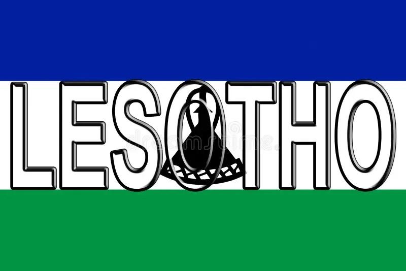 Flag of Lesotho Word stock illustration Illustration of insignia - word flag