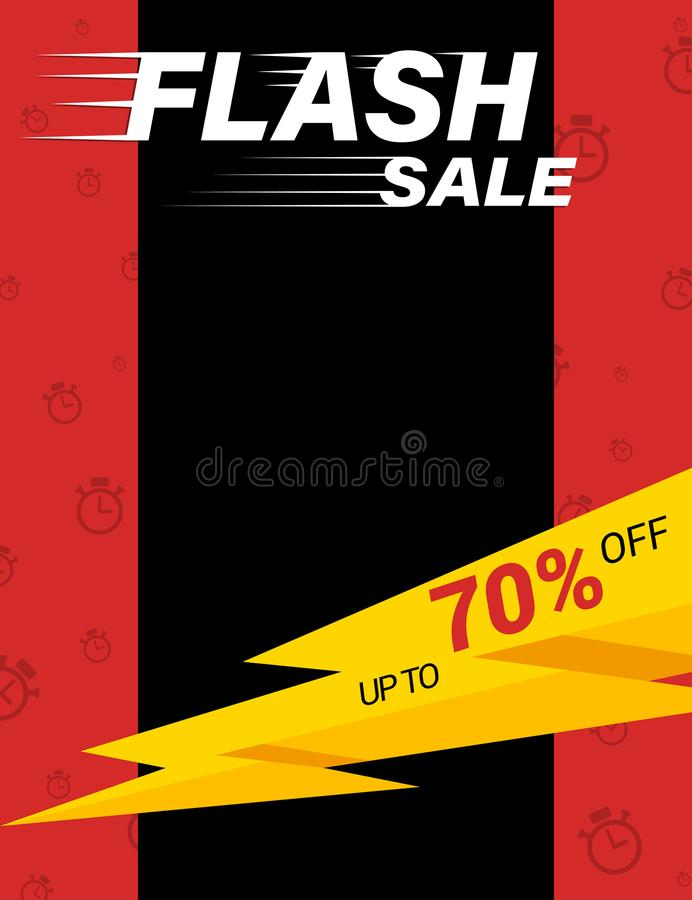 Flash sale poster template stock vector Illustration of flyer - for sale poster template