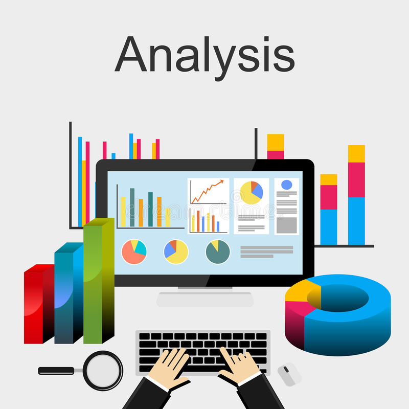 Flat Design Illustration Concepts For Data Analysis, Trend Analysis