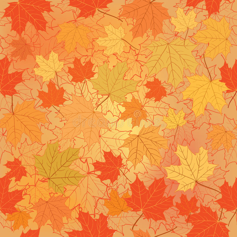 Maple Leaf Wallpaper For Fall Season Floral Seamless Background Fall Wallpaper Stock Photo