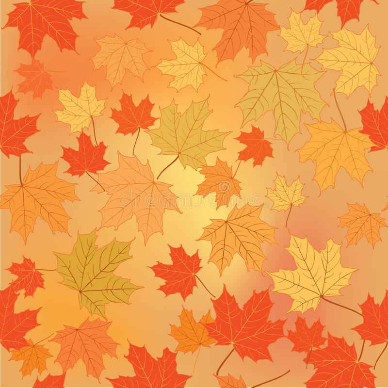 Fall Leaves Wallpaper Border Floral Seamless Background Fall Wallpaper Royalty Free