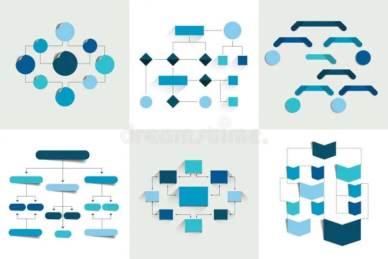 Flowcharts Un Insieme Di 6 Diagrammi Di Flusso Progetta, Diagrams