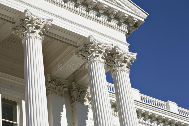 Fluted Corinthian Columns At California Capitol Stock Photo - Image