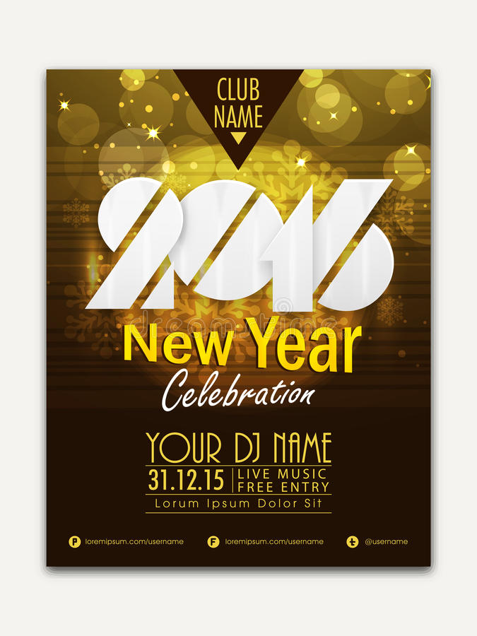 Flyer, Banner Or Pamphlet For Happy New Year Stock Illustration - free pamphlet design