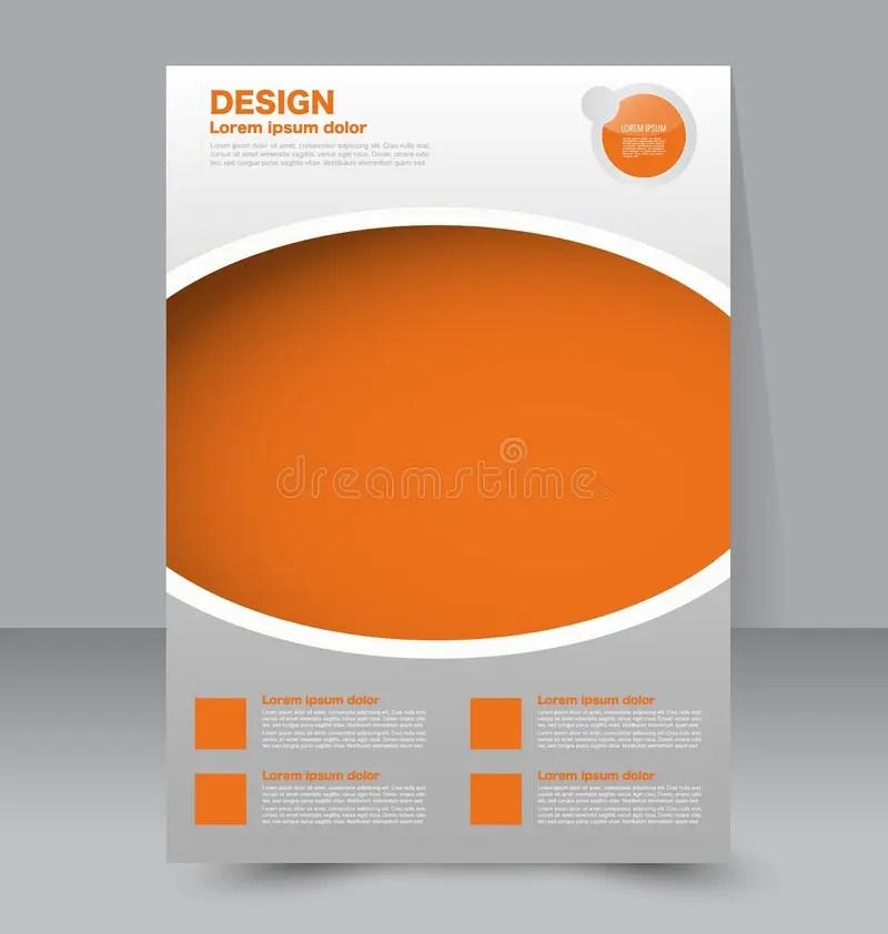 Flyer Template Business Brochure Editable A4 Poster Stock Vector