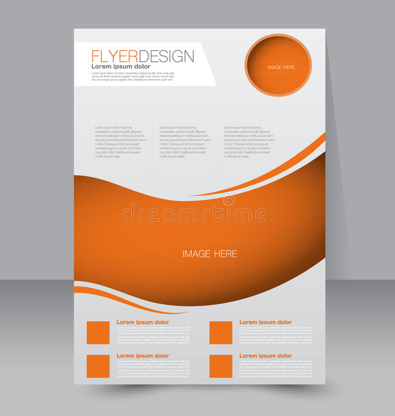 Flyer Template Business Brochure Editable A4 Poster Stock Vector - editable poster templates