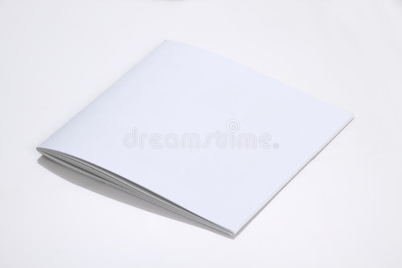 Folded White Blank Brochure Magazine Cover For Mock Up Stock Image - blank brochure