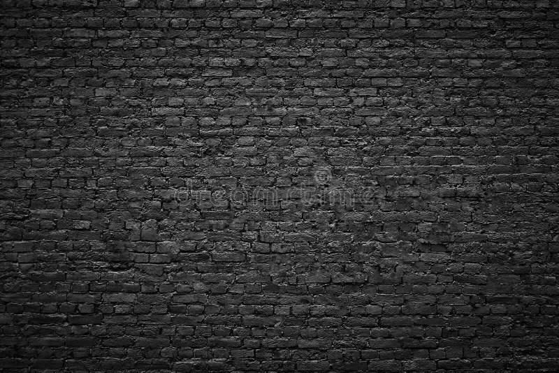Faux Brick Wallpaper 3d Fond Sombre Mur De Briques Noir De Texture En Pierre