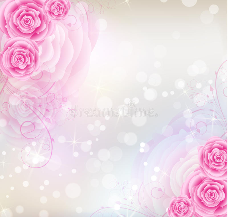 Cute L Wallpaper Fondo Rosado De Las Rosas Imagenes De Archivo Imagen