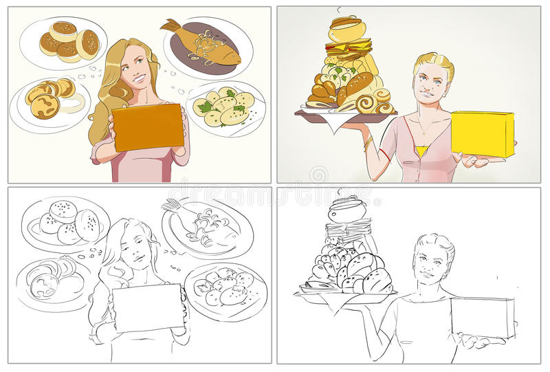 Food Commercial Storyboards Stock Illustration - Illustration of - commercial storyboards