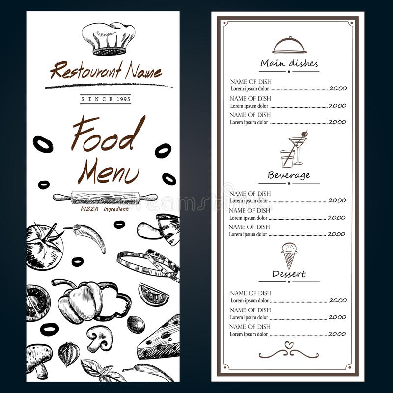 Food Menu Pizza Ingredients Fresh Template Backgroud Cover With - ingredient label template