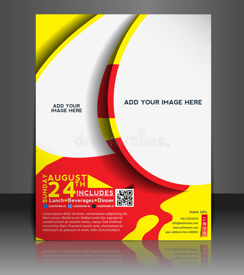 Football Competition Flyer Design Stock Vector - Illustration of - competition flyer template