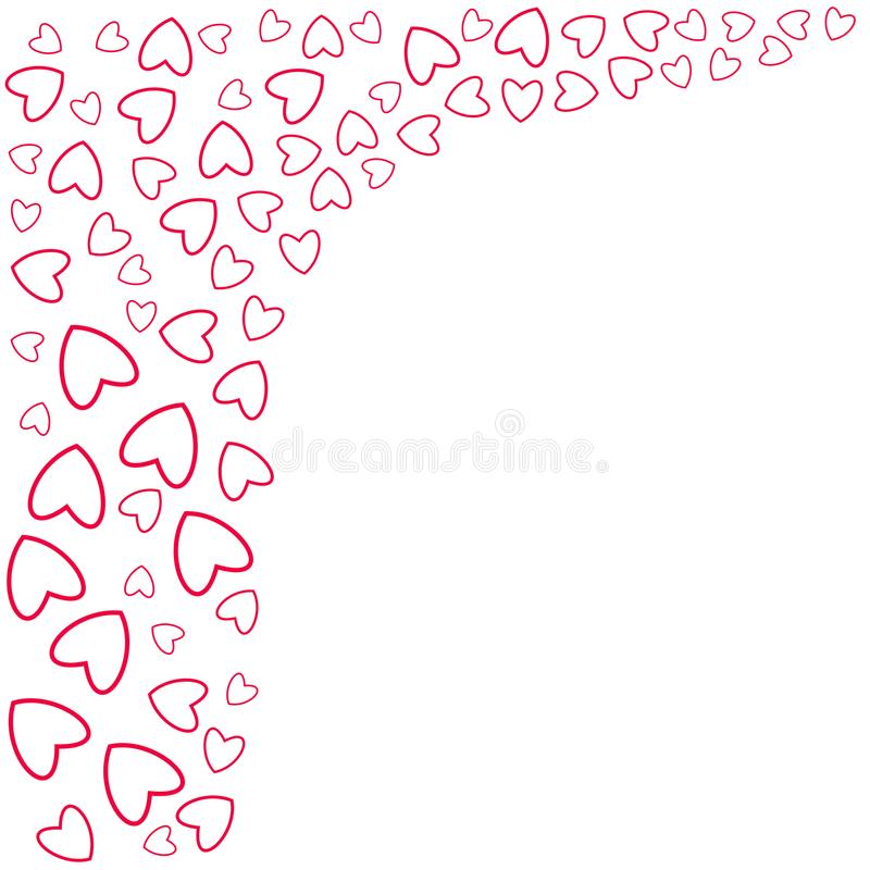 Frame Of Hearts For Decoration Of Cards, Invitations For Wedding