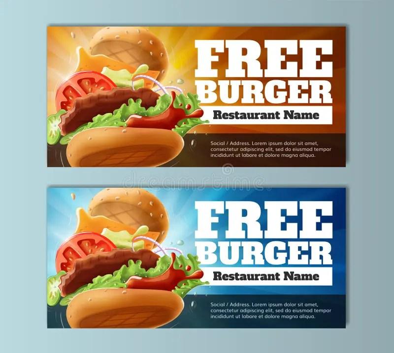 Free Burger Voucher Template Stock Vector - Image 94804117 - food voucher template