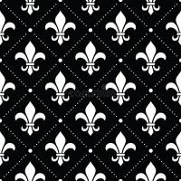French Damask Background - Fleur De Lis White Pattern On ...