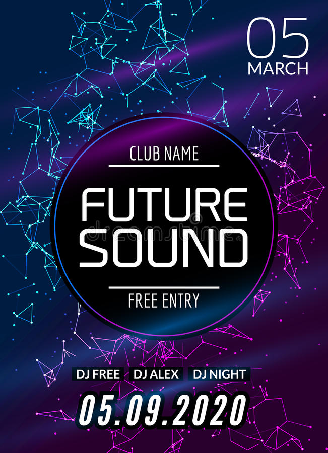 Future Sound Music Party Template, Dance Party Flyer, Brochure