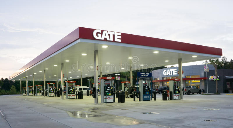 Gate Gas Station editorial image Image of liter, energy - 55765785