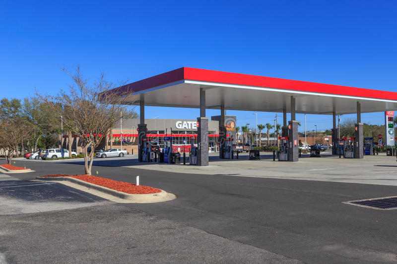 Gate Petro Service Station editorial image Image of chain - 86405245