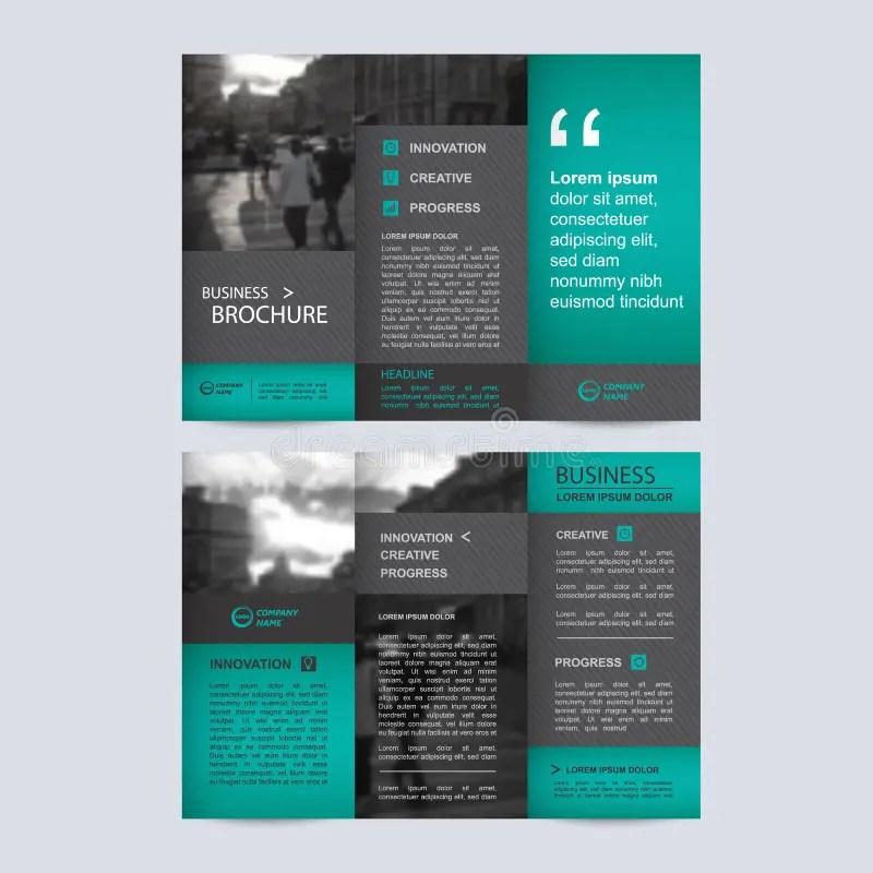 Geometric Trifold Business Brochure Template Stock Vector - tri fold business brochure