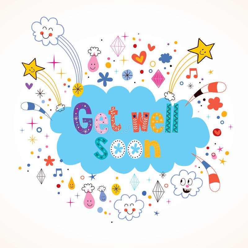 Get well soon card stock vector Illustration of graphic - 44401368 - get well soon card