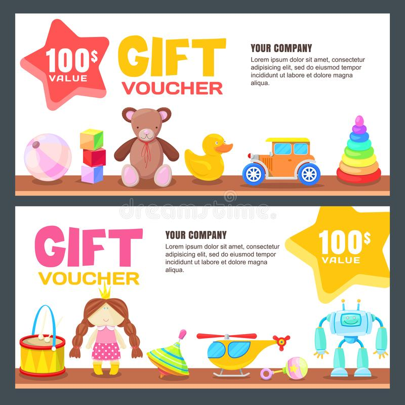 Gift Card, Voucher, Certificate Or Coupon Vector Design Layout