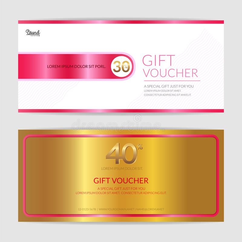Gift Certificate, Voucher, Gift Card Or Cash Coupon Template In - gift voucher format